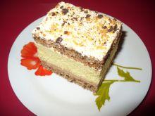 Ciasto biszkoptowe i orzechowe z masą