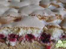 Ciasto biszkoptowe jabłkowo-malinowe