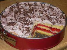Ciasto biszkoptowe pomazane