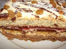 Ciasto biszkoptowe z delicjami