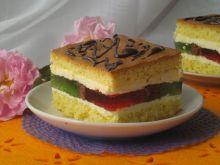 Ciasto biszkoptowe z galaretką