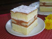 Ciasto biszkoptowe z musem brzoskwiniowym