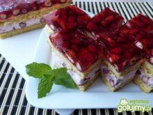 Ciasto biszkoptowe z poziomkami