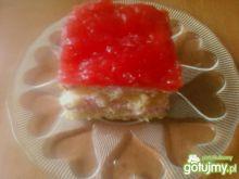Ciasto biszkoptowo truskawkowe