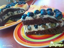 Ciasto borówkowo -  brzoskwiniowe