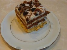 Ciasto brzoskwiniowe z bakaliami