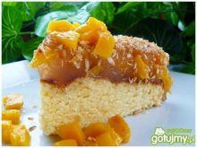 Ciasto brzoskwiniowe z kisielem