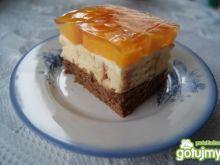 Ciasto brzoskwiniowe z krążkami rolady