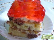 Ciasto brzoskwiniowe z orzechami
