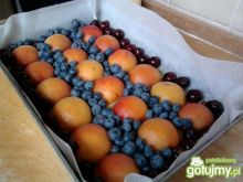 Ciasto brzoskwiniowo-borówkow-wiśniowe
