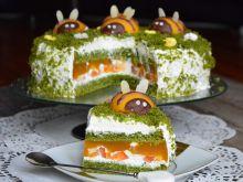 Ciasto brzoskwiniowo – szpinakowe