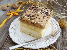 Ciasto budyniowe z kremem krówkowym
