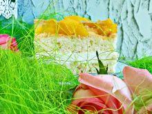 Ciasto budyniowo - brzoskwiniowe