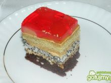 Ciasto capuccino z galaretką