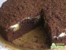 Ciasto czekoladowe  z kiwi