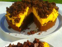 Ciasto czekoladowe z kremem dyniowym