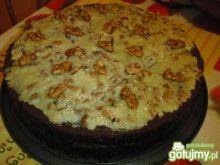 Ciasto czekoladowe z kremem orzechowym