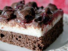 Ciasto czekoladowe z kremem z kaszy manny