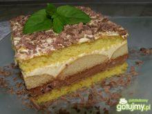 Ciasto czekoladowo - chałwowe