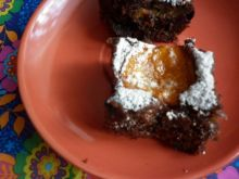 Ciasto czekoladowo - cukiniowe z morelą i borówką