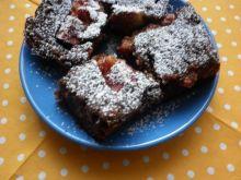 Ciasto czekoladowo - cukiniowe ze świeżymi figami