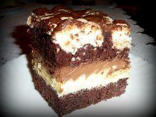 Ciasto czekoladowo - kokosowe z delicjami