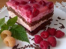Ciasto czekoladowo-malinowe marzenie