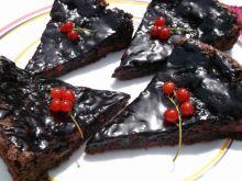 Ciasto czekoladowo-porzeczkowe