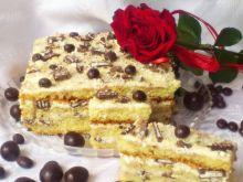 Ciasto Di z wafelkami przekładane kremem z kaszy