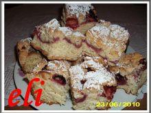 Ciasto drożdżowe Eli z truskawkami