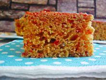 Ciasto drożdżowe z quinoa, burakiem i żurawiną