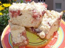 Ciasto drożdżowe z truskawkami, kruszonką
