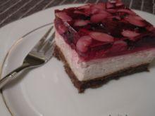 Ciasto Filadelfia na orzechowym spodzie