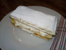 Ciasto francuskie z patelni z twarożkiem