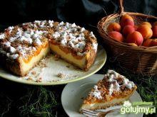 Ciasto graham z budyniem i morelami