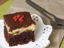 Ciasto Izaura- sernik na murzynku