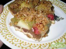 Ciasto jabłkowe z malinami
