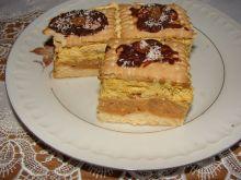 Ciasto jabłkowe z masą krówkową