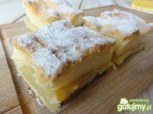 Ciasto jabłkowo- budyniowe