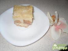 Ciasto jabłkowo-budyniowe.