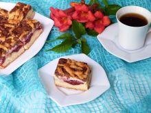 Ciasto jabłkowo-śliwkowe z serem marcepanowym