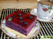 Ciasto jagódka na biszkopcie