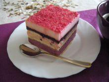 Ciasto jagodowe z maczkiem truskawkowym