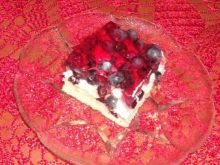 Ciasto jagodowe z masa budyniową