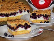 Ciasto jagodowo brzoskwiniowe
