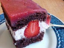 Ciasto jogurtowo - truskawkowe