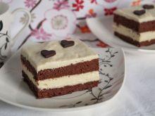 Ciasto kakaowe z kremem chałwowym