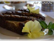 Ciasto kakaowe z rabarbarem