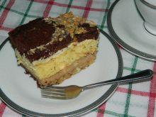 Ciasto kakaowo-kokosowe z masą z batonikami