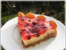 Ciasto - kasza manna pod żurawiną